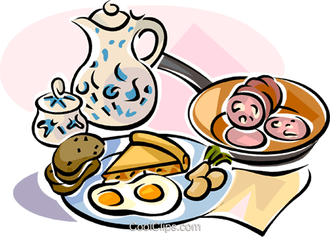 German breakfast Royalty Free Vector Clip Art illustration.