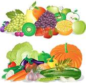 Fruit and Vegetables Clipart.