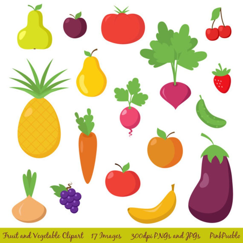 Clipart Fruit Vegetable clipart free image.