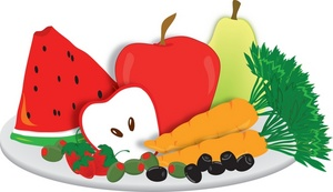 Fruits And Vegetables Clipart.