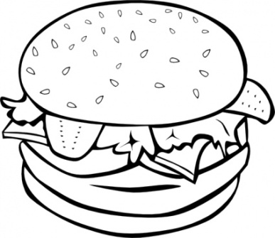 Fruit And Vegetable Clip Art Black And White.