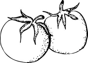 Fruit And Veg Clipart Black And White.
