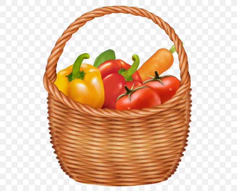 Basket Vegetable Fruit Clip Art, PNG, 548x661px, Basket.