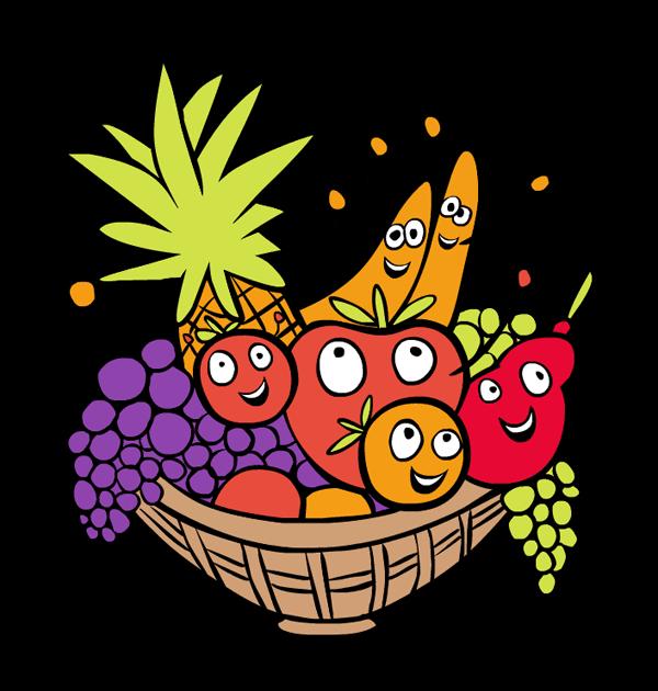 Fruit basket clip art.