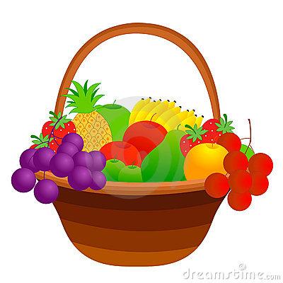 Fruit Basket Clipart.