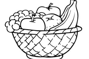Fruit basket clipart black and white 7 » Clipart Station.