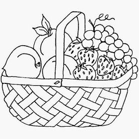 Fruit Basket Pictures For Kids Colour Drawing HD Wallpaper.