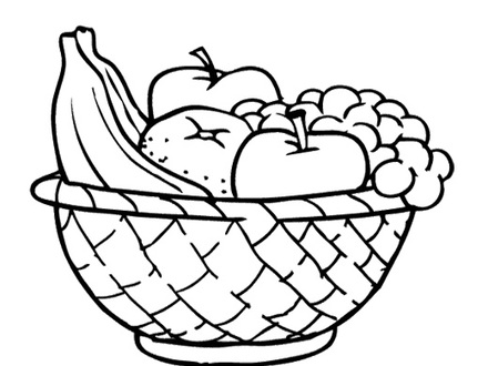 Fruit basket clipart black and white 3 » Clipart Station.