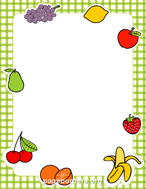 Fruit Border: Clip Art, Page Border, and Vector Graphics.