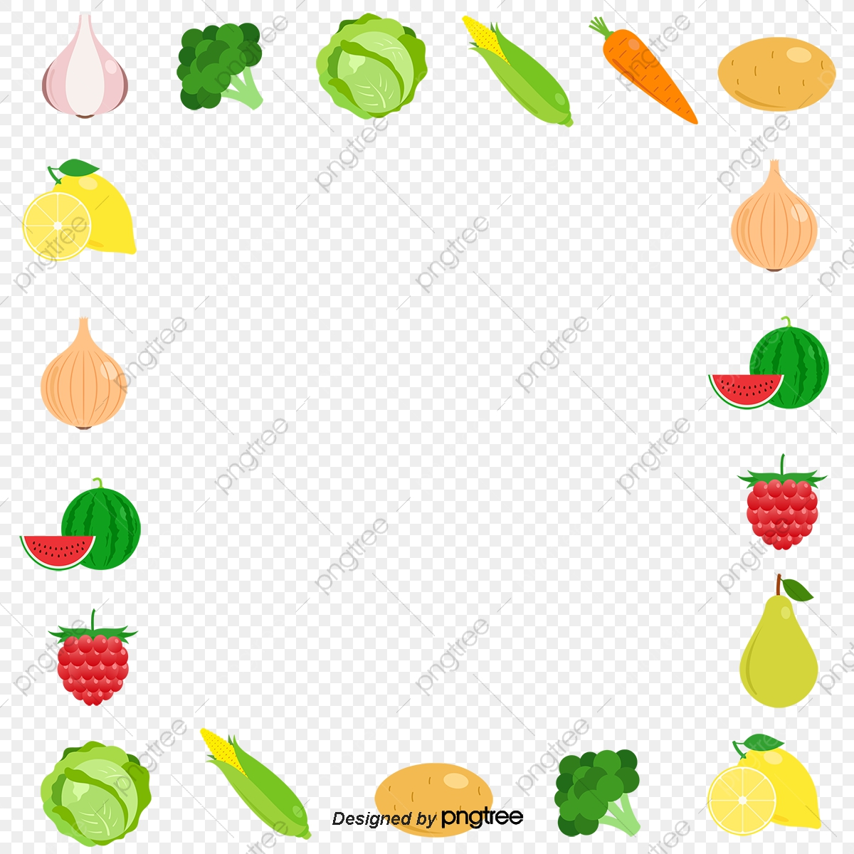 All Kinds Of Fruit Border, Fruit Vector, Border Vector, Fruit.