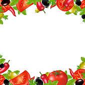 Vegetable Clipart Border.