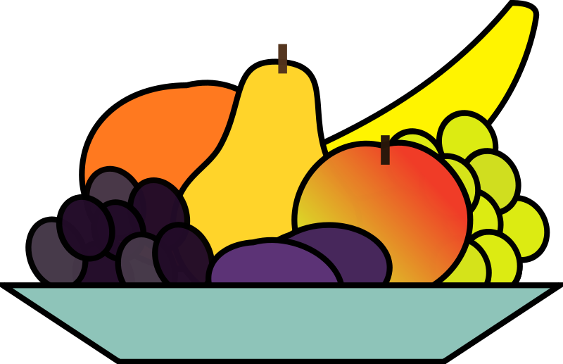 Fruit bowl clipart.