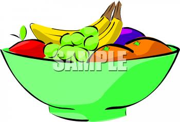 Fruit Bowl Clipart.