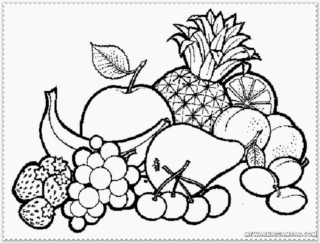Fruits basket clipart black and white 6 » Clipart Station.