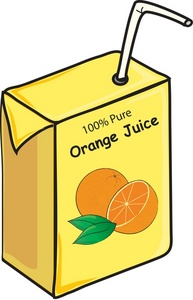 Juice Box Clipart.