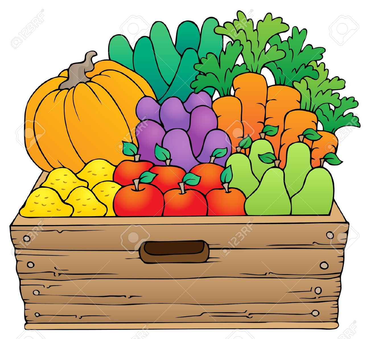 fruit boxes clipart clipground