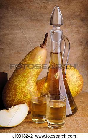 Stock Photo of traditional fruit brandy k10018242.