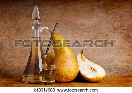 Stock Photo of still life with traditional fruit brandy k10017683.