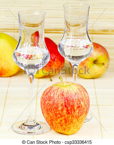 Stock Photography of Apple brandy.