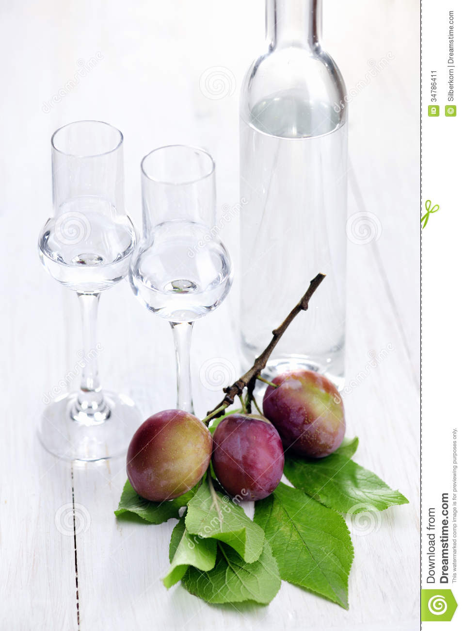 Fruit Brandy, Plum Stock Image.