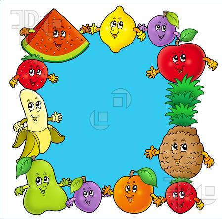 Fruit Border Clipart.
