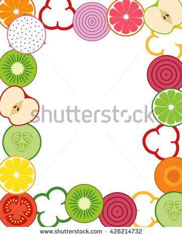 Fruits and vegetables clipart border 2 » Clipart Station.