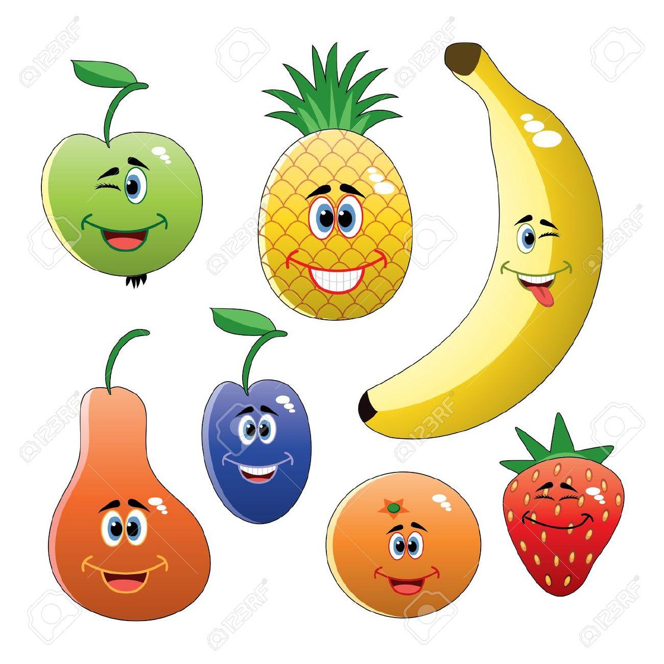Fruit clip art vector.