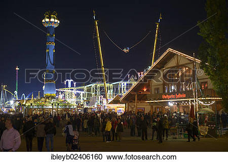 "Stock Photography of ""View of the Cannstatter Volksfest fair."