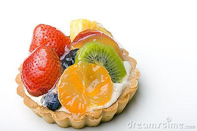 Fruit Tart Dessert Stock Image.
