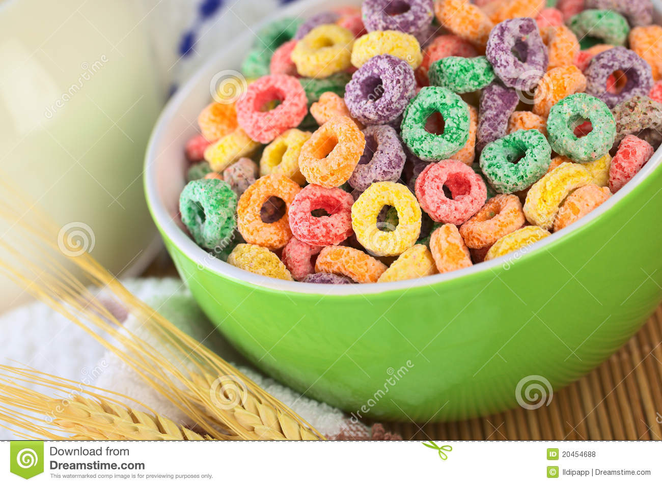 Fruit Loops Cereal Clipart.