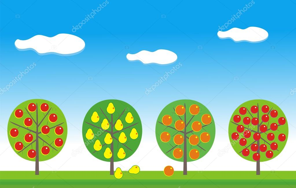 Fruit garden — Stock Vector © ADVRT24 #1163676.