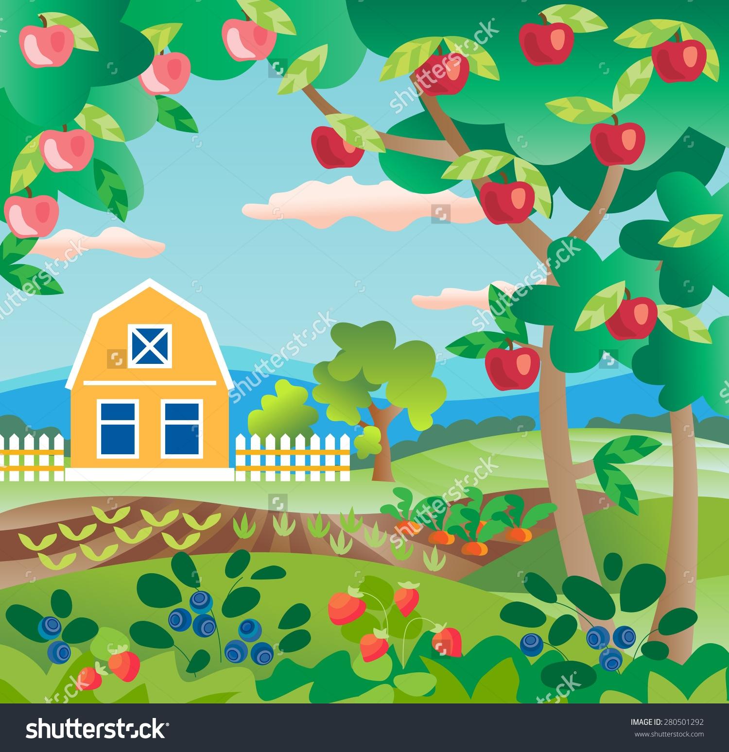 Fruit Garden Clipart.