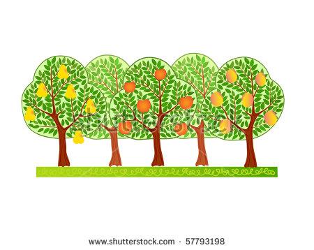 Fruit Tree Garden Stock Images, Royalty.