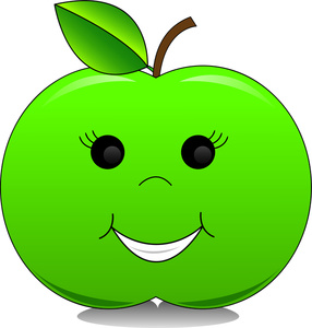 Happy Apple Clipart.