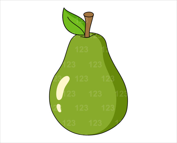 Pear fruit clipart.