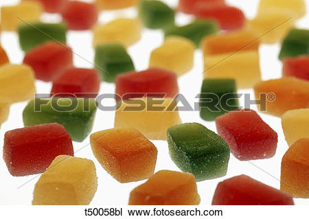 Stock Photo of Jelly bonbons,fruit gums t50058bl.