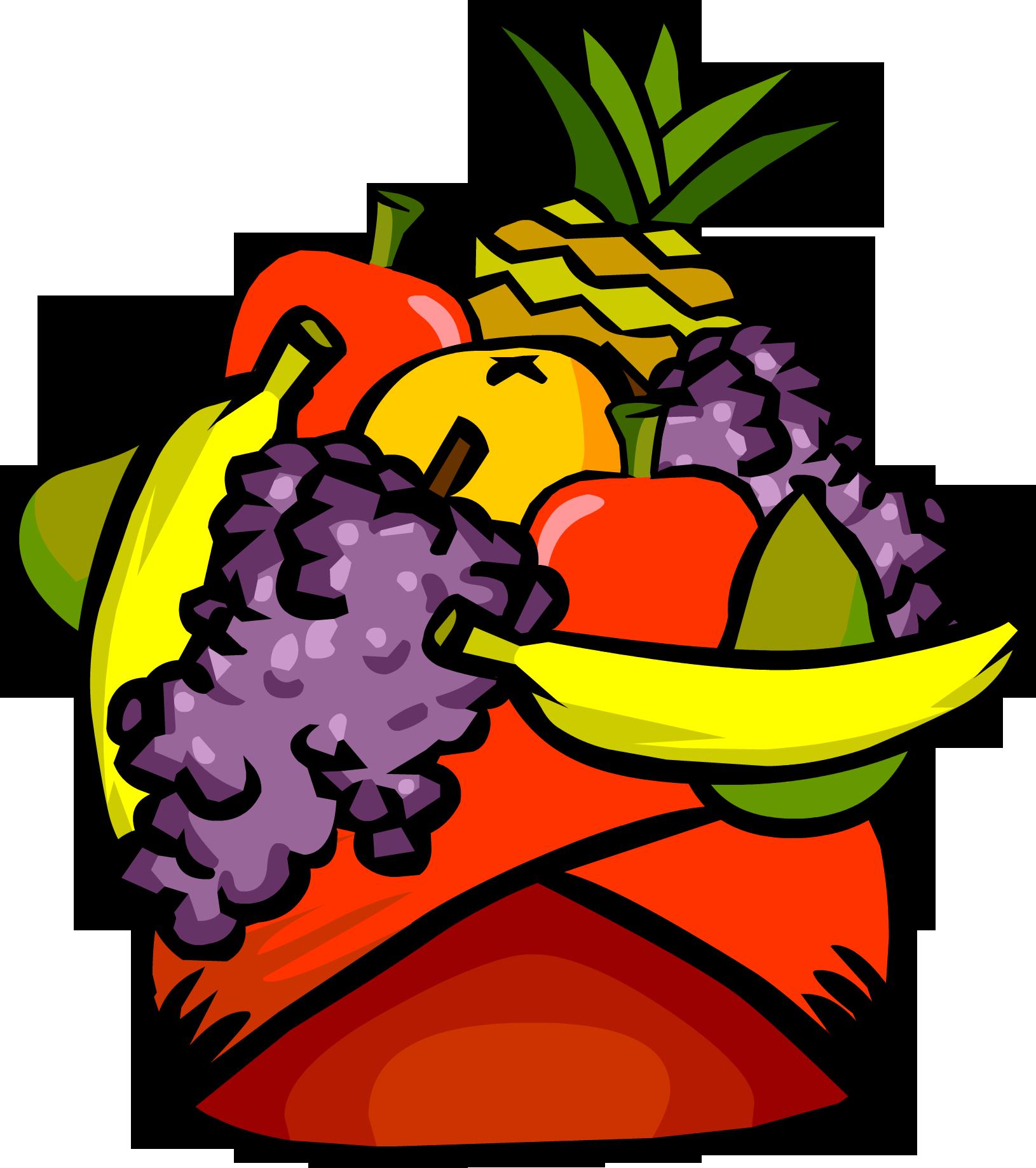 Fruit hat clipart.