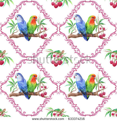Lovebirds Drawing Stock Images, Royalty.