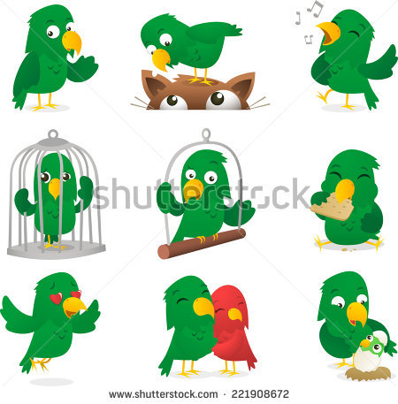Parrot Eating Stock Images, Royalty.