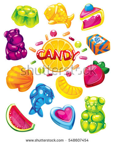 Candied Fruit Jelly Stock Vectors, Images & Vector Art.