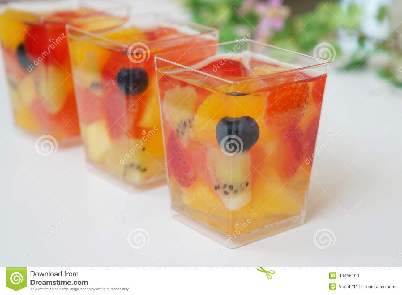 Fruit Jelly Royalty Free Stock Images.
