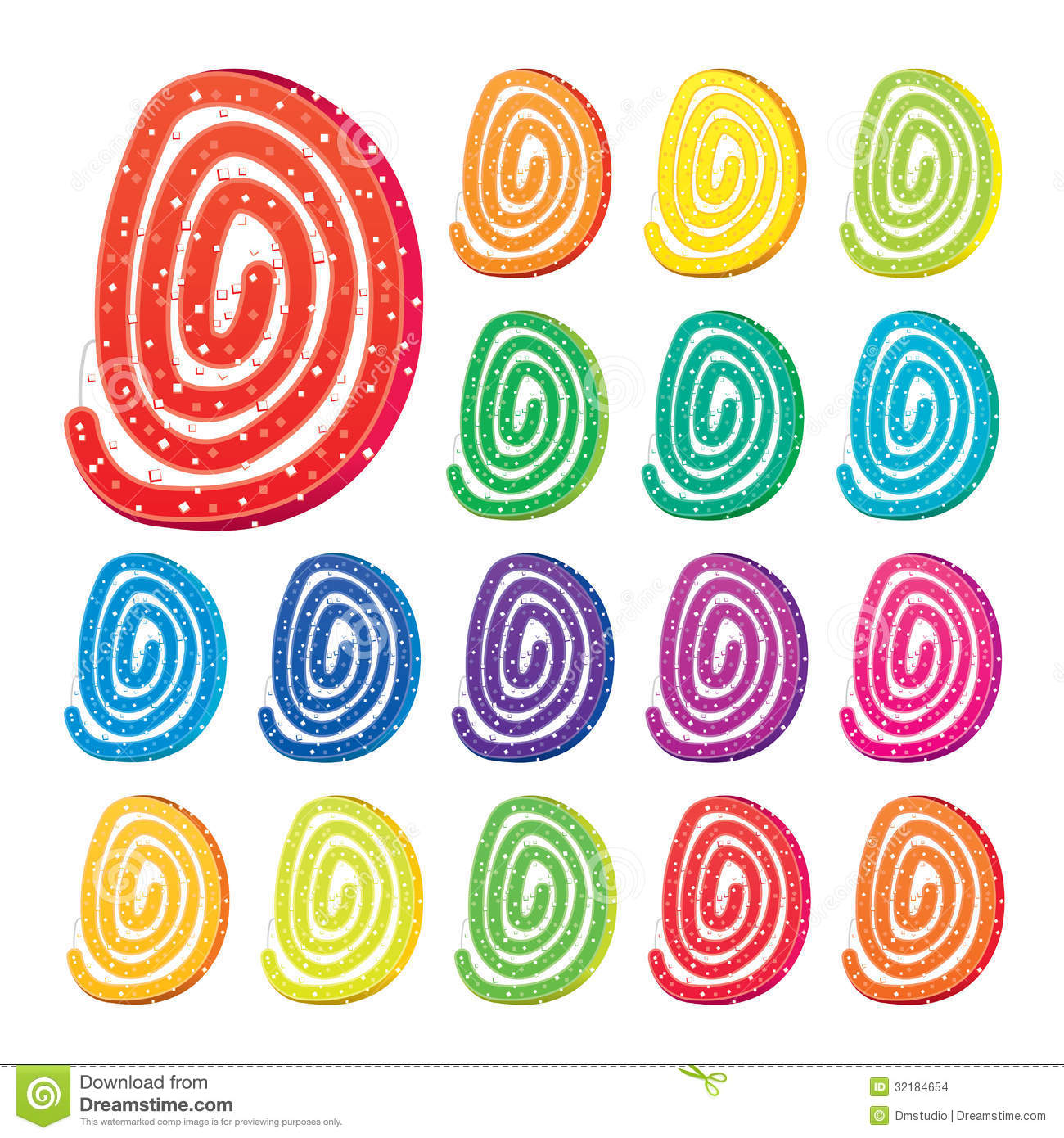 Vector Colorful Fruit Jelly Stock Images.