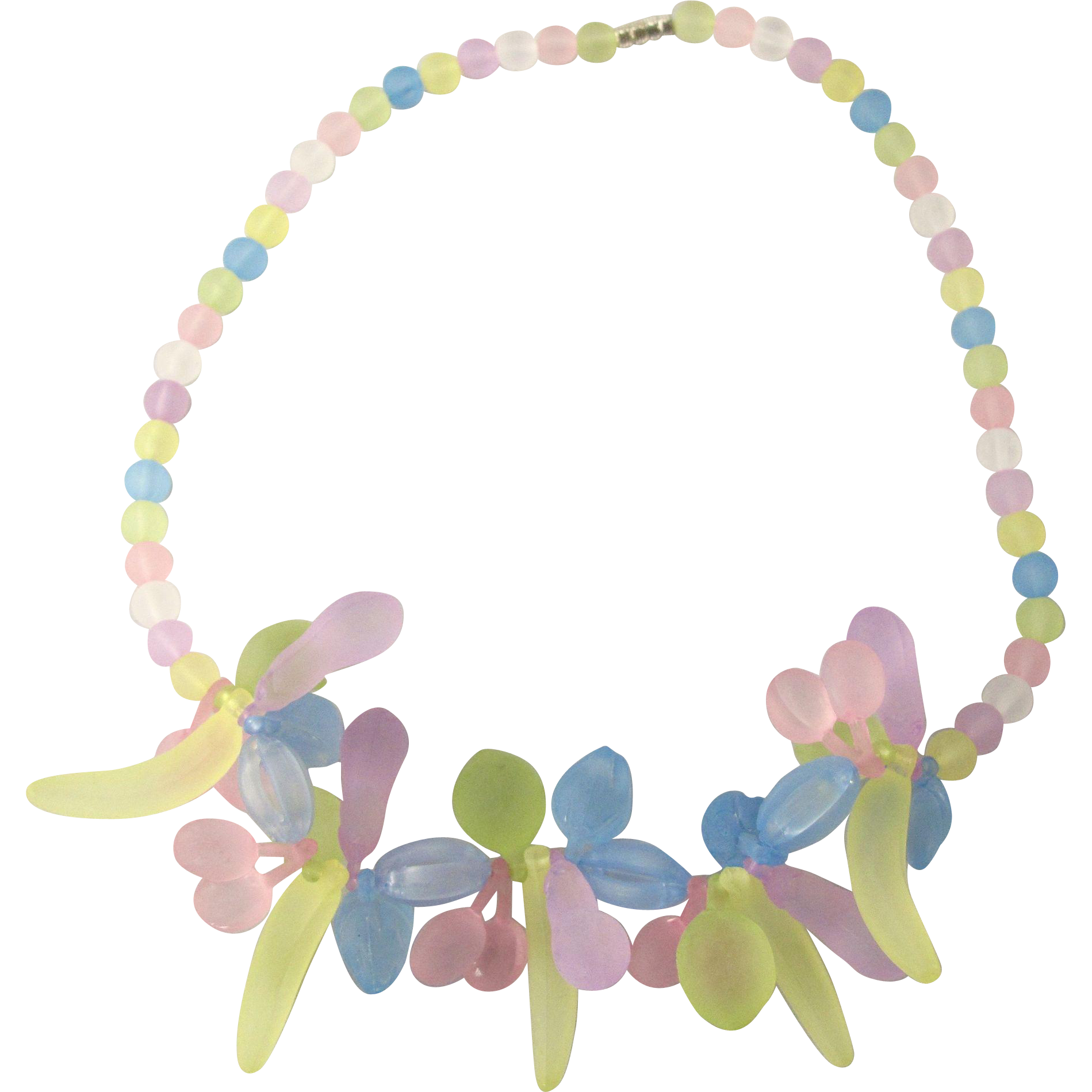 Vintage Lucite Fruit Necklace from 2heartsjewelry.