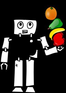 Robot With Fruit Kabob Clip Art at Clker.com.