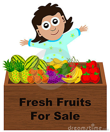Fruit Market Stall Clipart.
