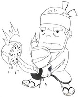 Fruit Ninja Coloring Pages.