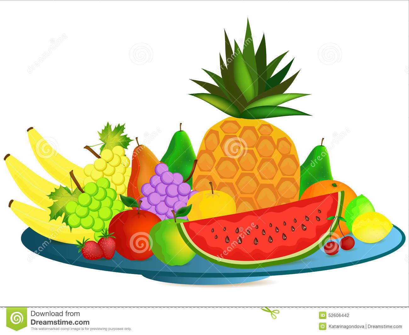 Fruit Plate Clipart.