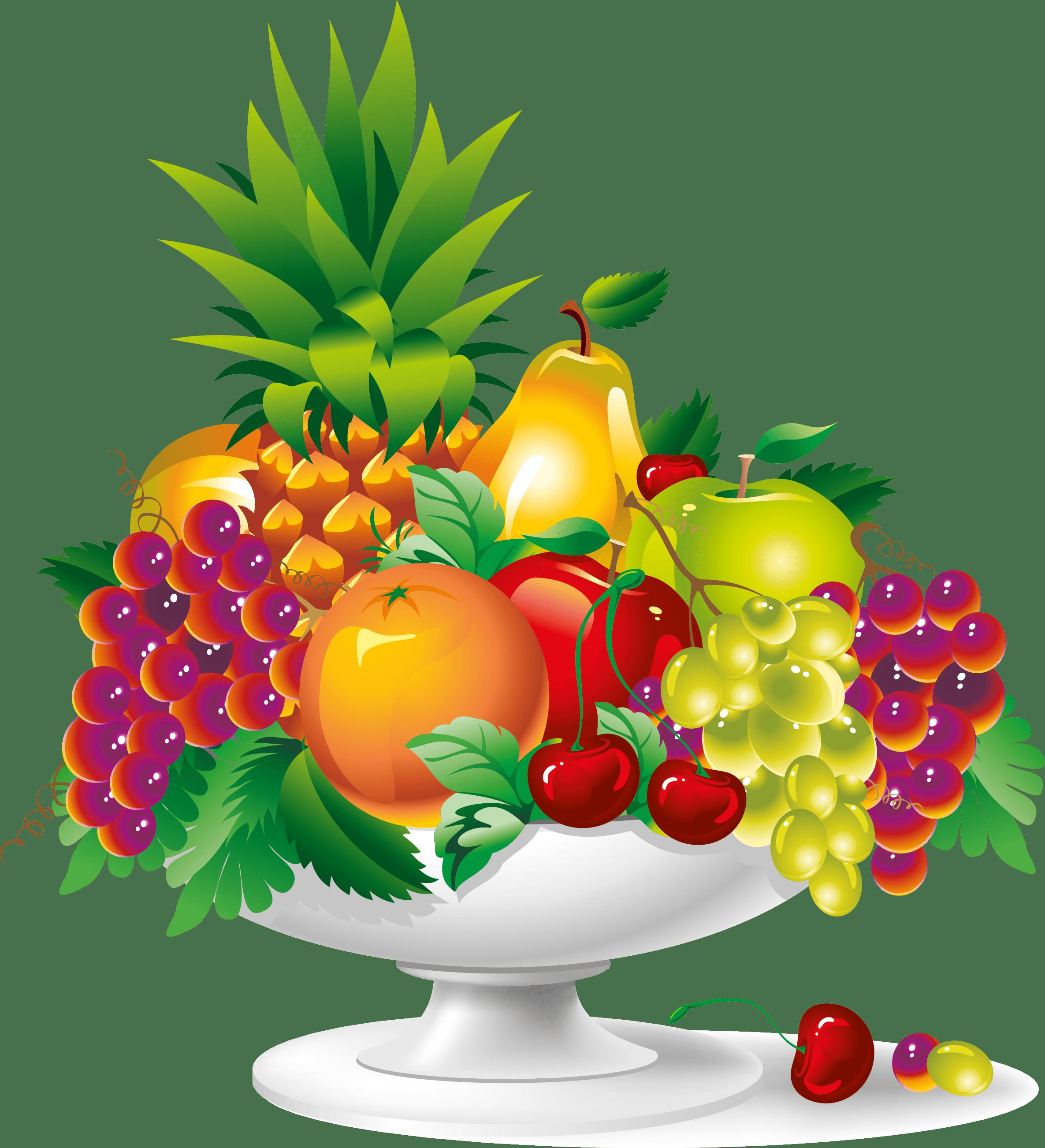 Fruit Plate Vector Art Download Vector.