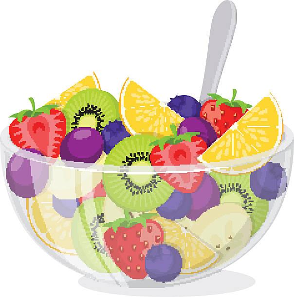 Best Fruit Salad Illustrations, Royalty.
