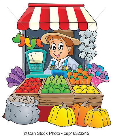 Market Vendor Clipart.